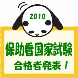 2010年度保助看国家試験合格者発表 イメージ