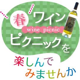 ワインをもってピクニックに出かけよう! イメージ